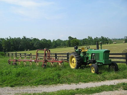 tractor at Jane Thomas' place