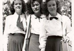 unknown 3 young ladies possibly 2 daughters of Ralph White 1948
