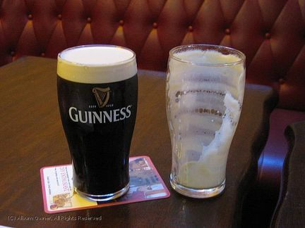 20090724 Ireland - Guinness before and after