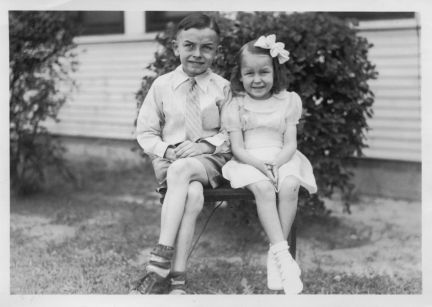 Jack W and Juanita Hagemeyer as children in 1930 s sm