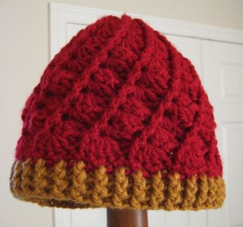 Cranberry and honey hat 2
