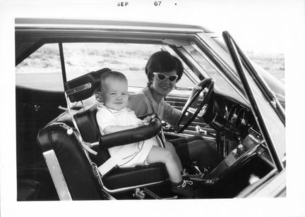 Mary Louise and Susan in the 1965 Buick Riviera