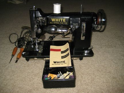 White All-Stitch sewing machine with accessories  sm
