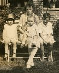 Ora Ethel Hasty with children Ethlyn Claire, Giles, and William Jr 1927 cropped