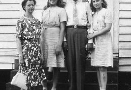 Macedonia church questionmark - Mae-DH Brantley and 3 women crop