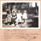 Four generations 1937, Cora Braswell, Narcissa Holbrook Braswell, Catherine Brantley, Mary Louise McKee