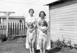Aunt Tom and -- Robey with daughters Patricia & Alice maybe