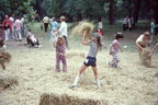 1973 Mayfest - throwing hay