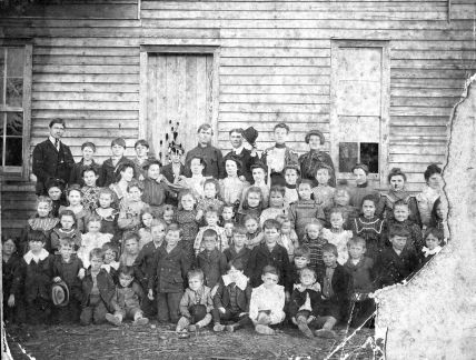 school or church group - Grover Cleveland McMullan in back holding his hat, Onie Hasty on right (3)